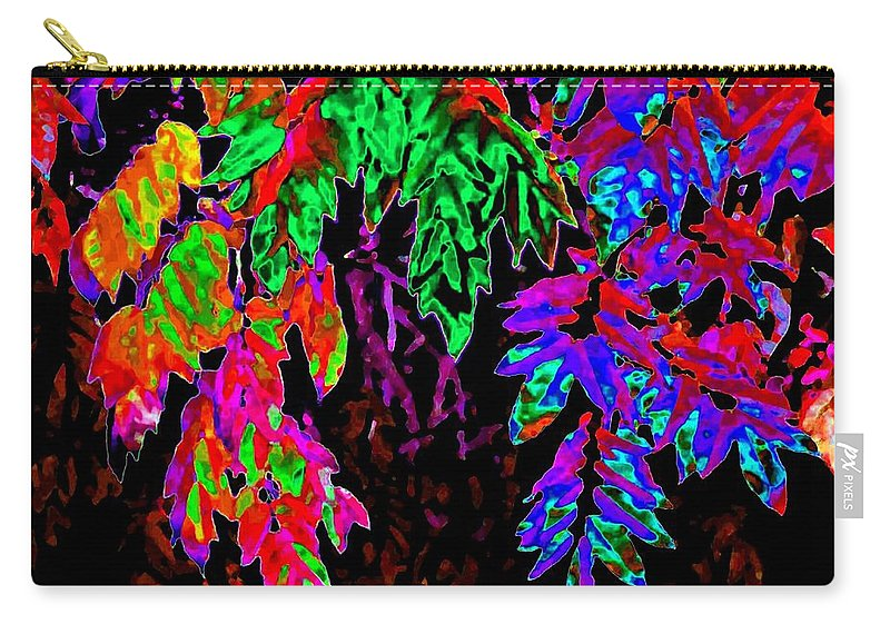Abstract Carry-all Pouch featuring the digital art Abstract Wisteria by Will Borden