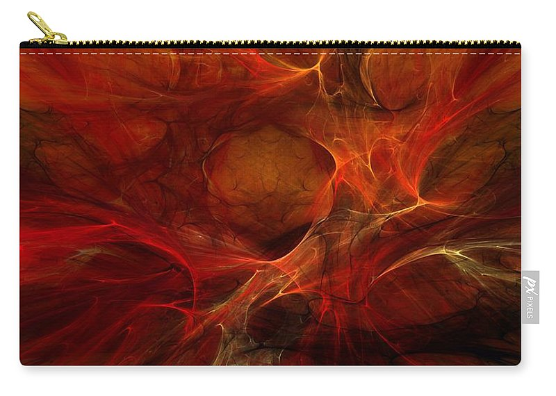Digital Painting Carry-all Pouch featuring the digital art Abstract0610b by David Lane