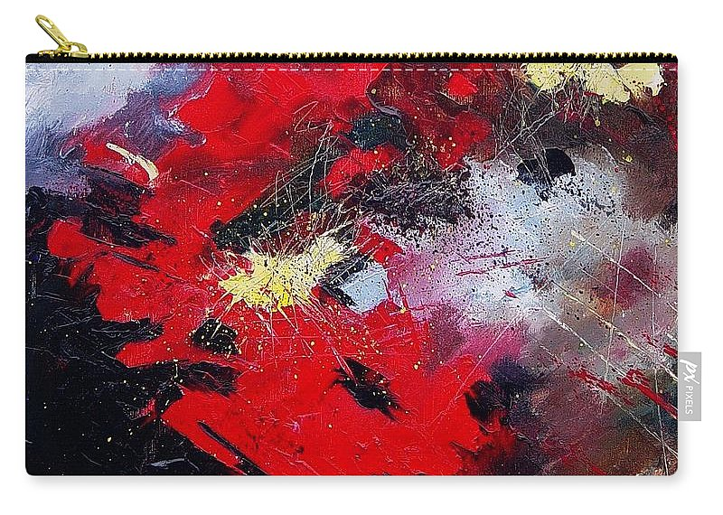 Abstract Carry-all Pouch featuring the painting Abstract070406 by Pol Ledent
