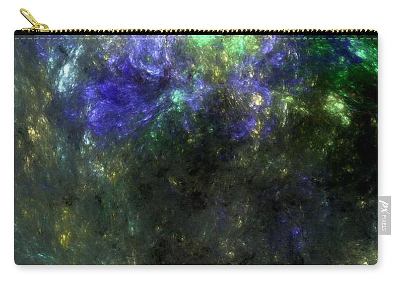 Abstract Expressionism Carry-all Pouch featuring the digital art Abstract08-14-09 by David Lane