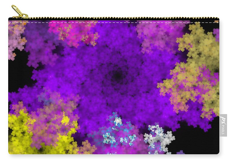 Abstract Digital Painting Carry-all Pouch featuring the digital art Abstract10-16-09-1 by David Lane