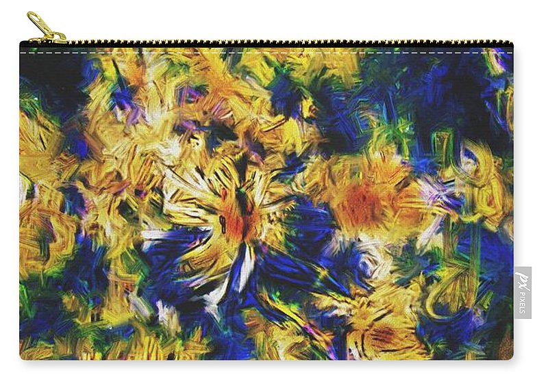 Abstract Digital Painting Carry-all Pouch featuring the digital art Abstract11-06-09 by David Lane
