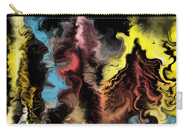 Abstract Carry-all Pouch featuring the digital art Abstract309i by David Lane