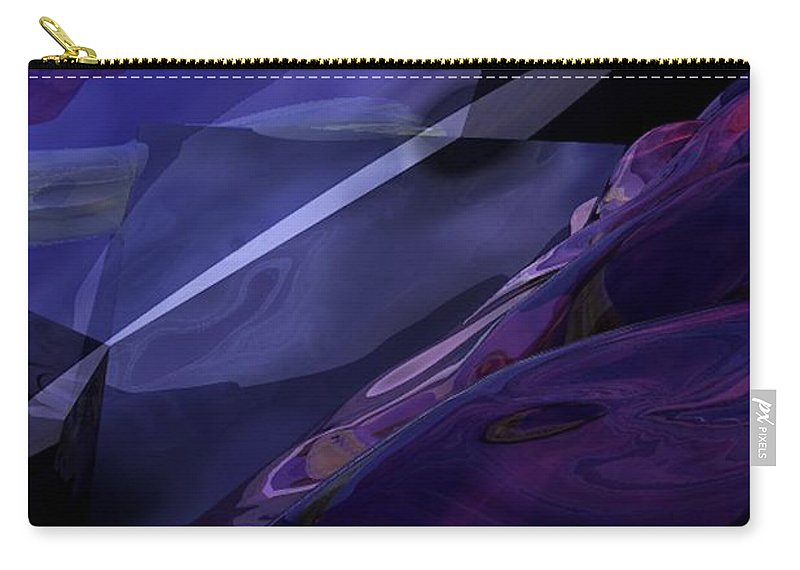 Abstract Carry-all Pouch featuring the digital art Abstractbr6-1 by David Lane