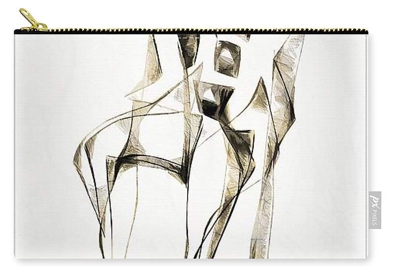 Abstraction Carry-all Pouch featuring the digital art Abstraction 2181 by Marek Lutek