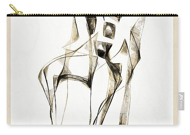 Abstraction Carry-all Pouch featuring the digital art Abstraction 2182 by Marek Lutek