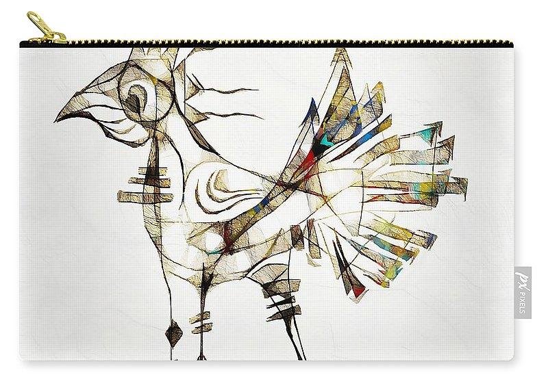 Abstraction Carry-all Pouch featuring the digital art Abstraction 2185 by Marek Lutek