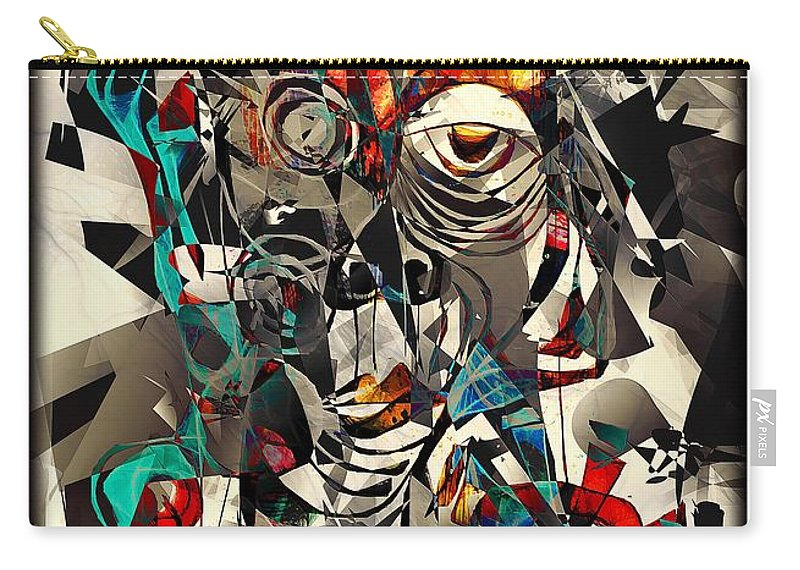 Abstraction Carry-all Pouch featuring the digital art Abstraction 2501 by Marek Lutek