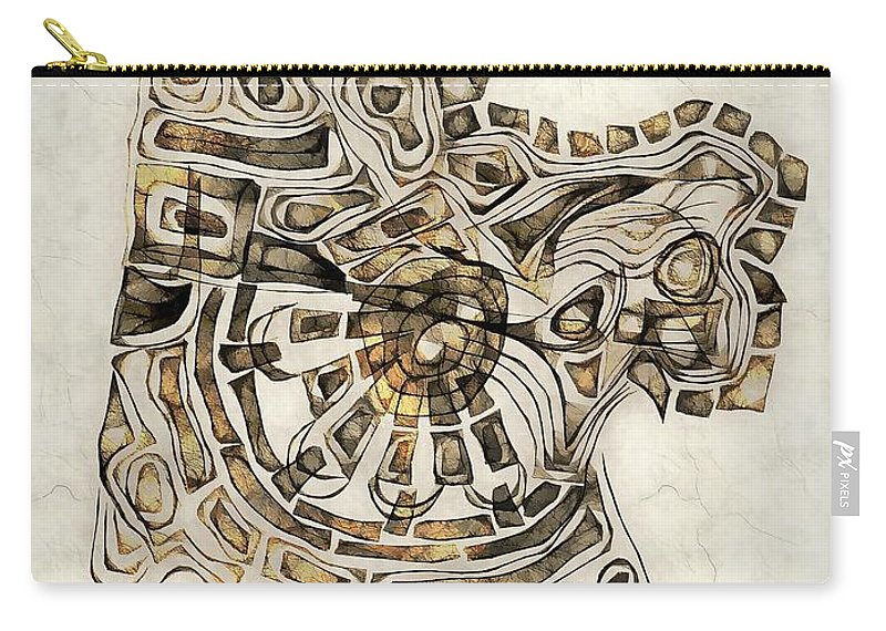 Abstraction Carry-all Pouch featuring the digital art Abstraction 2798 by Marek Lutek