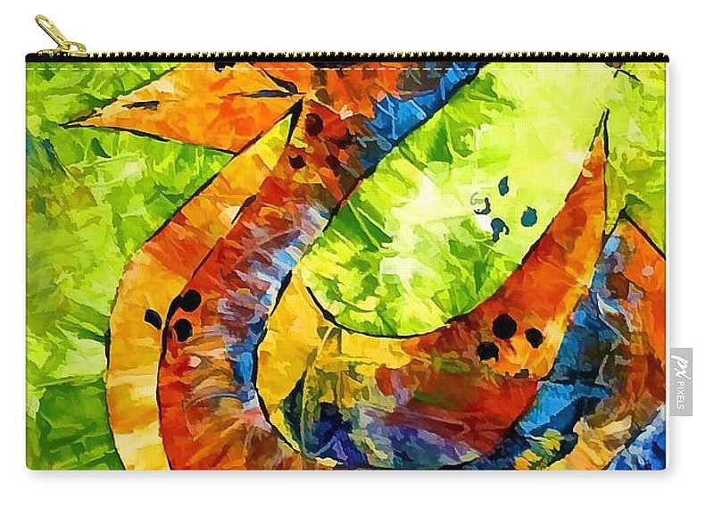 Abstraction Carry-all Pouch featuring the digital art Abstraction 3199 by Marek Lutek