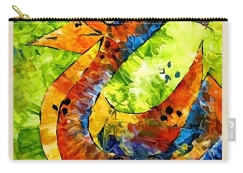 Abstraction Carry-all Pouch featuring the digital art Abstraction 3200 by Marek Lutek