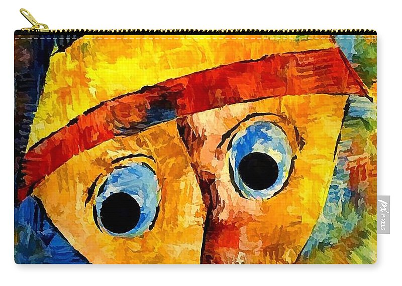 Abstraction Carry-all Pouch featuring the digital art Abstraction 3201 by Marek Lutek