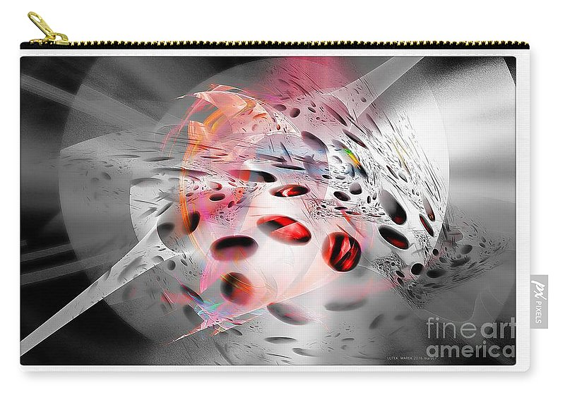 Abstraction Carry-all Pouch featuring the digital art Abstraction 3306 by Marek Lutek