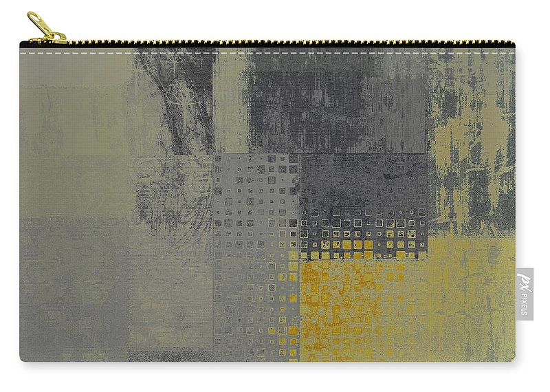 Abstract Carry-all Pouch featuring the digital art Abstractionnel - Ww59j121129158yll by Variance Collections
