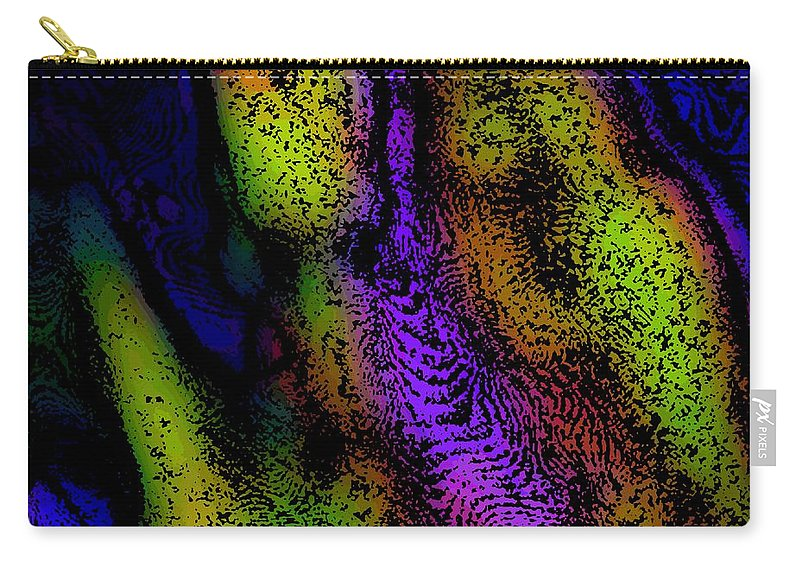 Fine Art Carry-all Pouch featuring the digital art Abstractm 031111 by David Lane