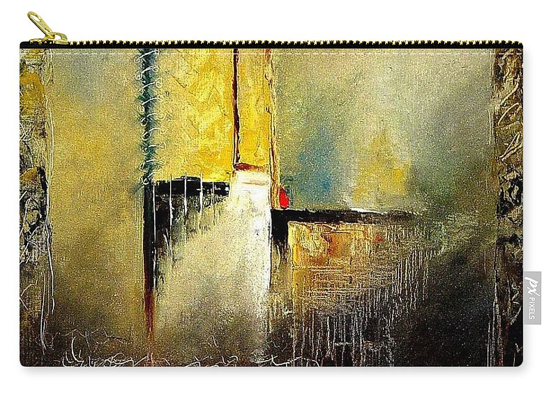 Abstract Carry-all Pouch featuring the painting Abstrct 3 by Pol Ledent