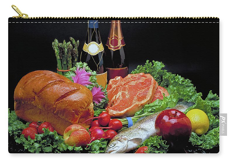 Gourmet Carry-all Pouch featuring the photograph Abundance Still Life by Marie Hicks