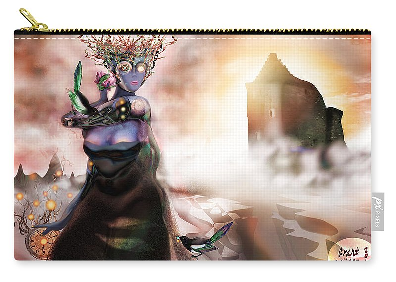 Fantasy Drawing Carry-all Pouch featuring the digital art Abyss by Grant Wilson