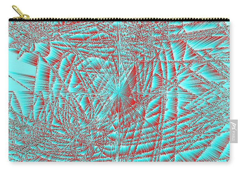 Rithmart Abstract Lines Organic Random Computer Digital Shapes Acanvas Art Background Colors Designed Digital Display Images One Random Series Shapes Smooth Spiky Streaming Three Using Carry-all Pouch featuring the digital art Ac-7-23-#rithmart by Gareth Lewis