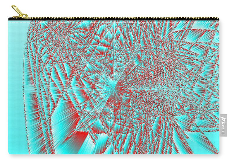 Rithmart Abstract Lines Organic Random Computer Digital Shapes Acanvas Art Background Colors Designed Digital Display Images One Random Series Shapes Smooth Spiky Streaming Three Using Carry-all Pouch featuring the digital art Ac-7-32-#rithmart by Gareth Lewis