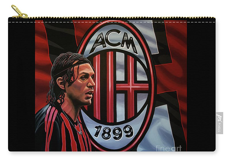 Ac Milan Carry-all Pouch featuring the painting Ac Milan Painting by Paul Meijering