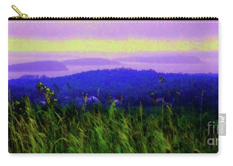 Acadia Carry-all Pouch featuring the mixed media Acadia Sunrise by Desiree Paquette