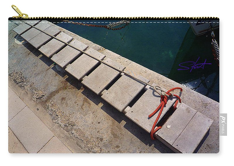 Fishing Net Carry-all Pouch featuring the photograph Access by Charles Stuart