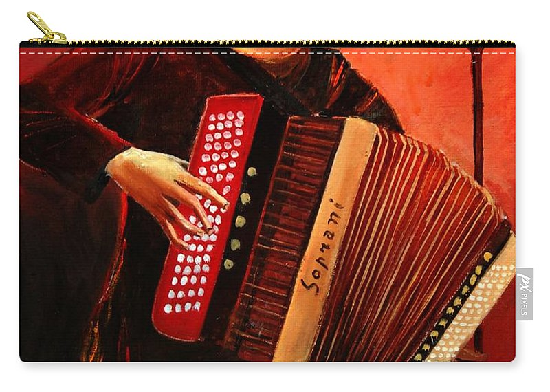 Music Carry-all Pouch featuring the print Accordeon by Pol Ledent