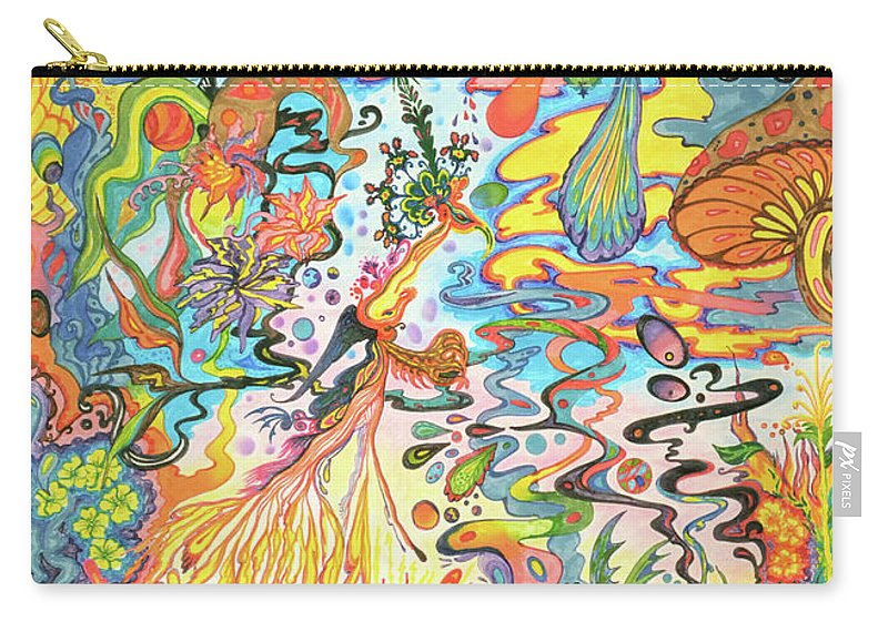 75ccbffbf Psychedelic Landscape Carry-all Pouch featuring the painting Acid Dreams by  Liz Baker