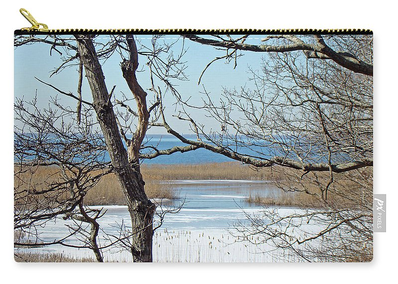 Beach Carry-all Pouch featuring the photograph Across The Marsh To Woodneck Beach - Cape Cod by Mother Nature