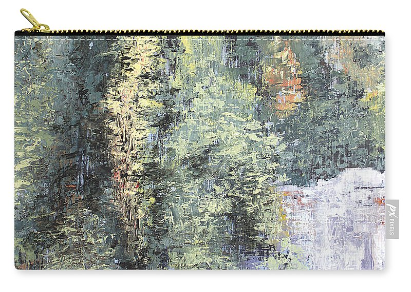 Landscape Carry-all Pouch featuring the painting Across The Ravine by Todd Blanchard