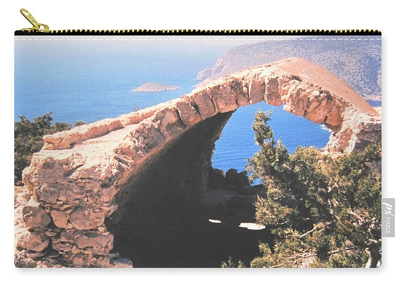 Greece Carry-all Pouch featuring the photograph Across To Turkey by Ian MacDonald