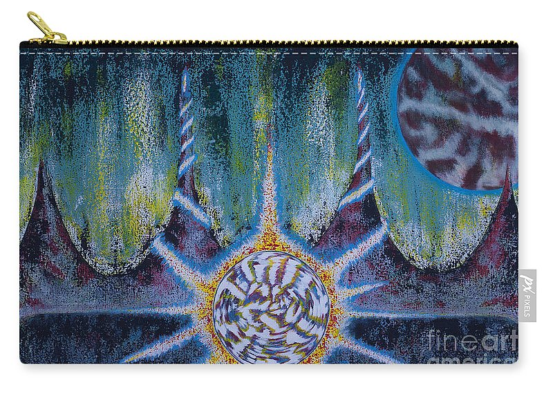 Space Carry-all Pouch featuring the painting Activating The Ion Shield by CJ Winter