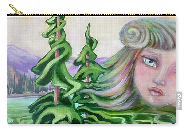 Landscape Painting Carry-all Pouch featuring the painting Acts Of Creation by Tammy Watt