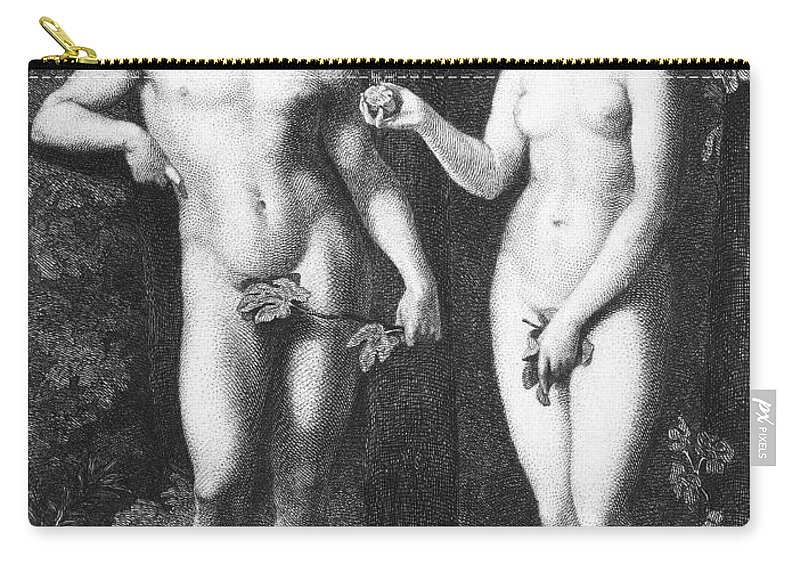 16th Century Carry-all Pouch featuring the photograph Adam & Eve by Granger