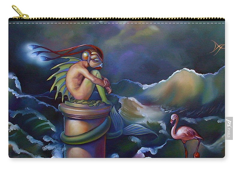 Merman Carry-all Pouch featuring the painting Adam by Patrick Anthony Pierson