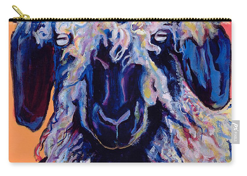 Goat Print Carry-all Pouch featuring the painting Adelita  by Pat Saunders-White