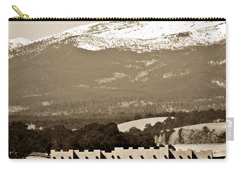 Americana Carry-all Pouch featuring the photograph Adobe House by Marilyn Hunt