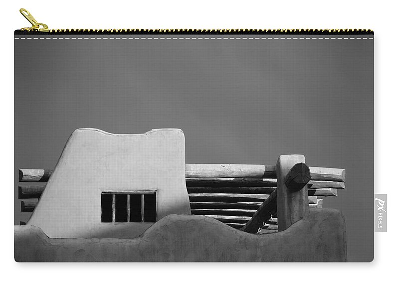 Architecture Carry-all Pouch featuring the photograph Adobe Turrett by Rob Hans