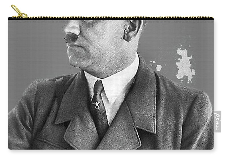Adolf Hitler Portrait Heinrich Hoffmann Photo Circa 1935 Carry-all Pouch featuring the photograph Adolf Hitler Portrait Heinrich Hoffmann Photo Circa 1935-2016 by David Lee Guss
