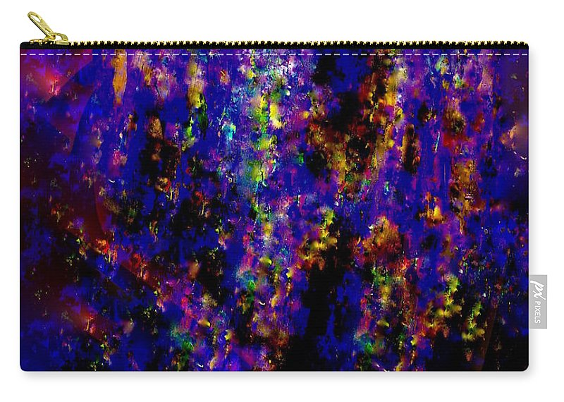Painting-abstract Acrylic Carry-all Pouch featuring the mixed media Adrenaline Rush In The Night by Catalina Walker