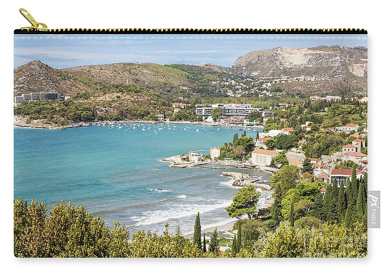 Coastline Carry-all Pouch featuring the photograph Adriatic Coast In Croatia by Didier Marti