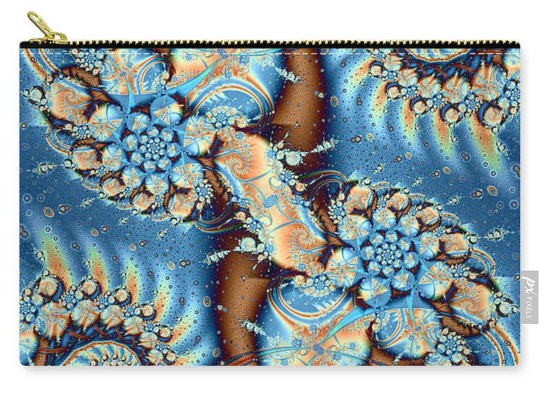 Fractal Carry-all Pouch featuring the digital art Adrift by Richard Ortolano