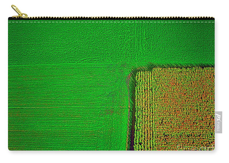 Aerial Carry-all Pouch featuring the photograph Aerial Farm Mchenry Il by Tom Jelen