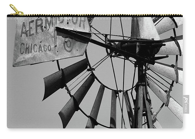 Griculture Carry-all Pouch featuring the photograph Aeromotor by Alan Look