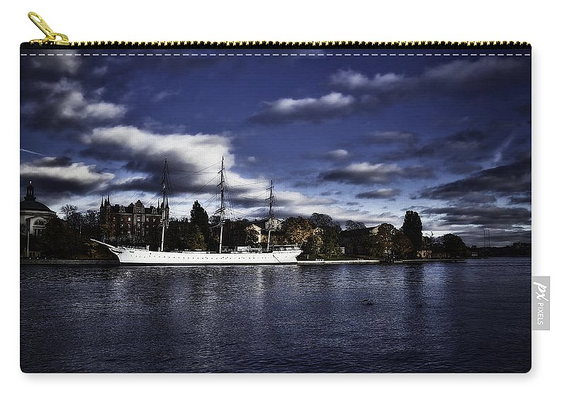 Sailboat Carry-all Pouch featuring the photograph Af Chapman Color by Ramon Martinez