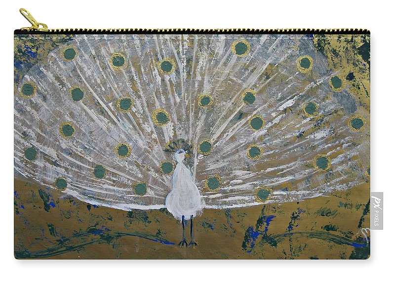 Art Deco Carry-all Pouch featuring the painting Affaire In The Tuilleries by Michela Akers