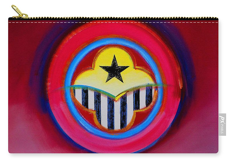 Button Carry-all Pouch featuring the painting African American by Charles Stuart