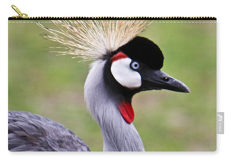 Bird Carry-all Pouch featuring the photograph African Crowned Crane by Douglas Barnett