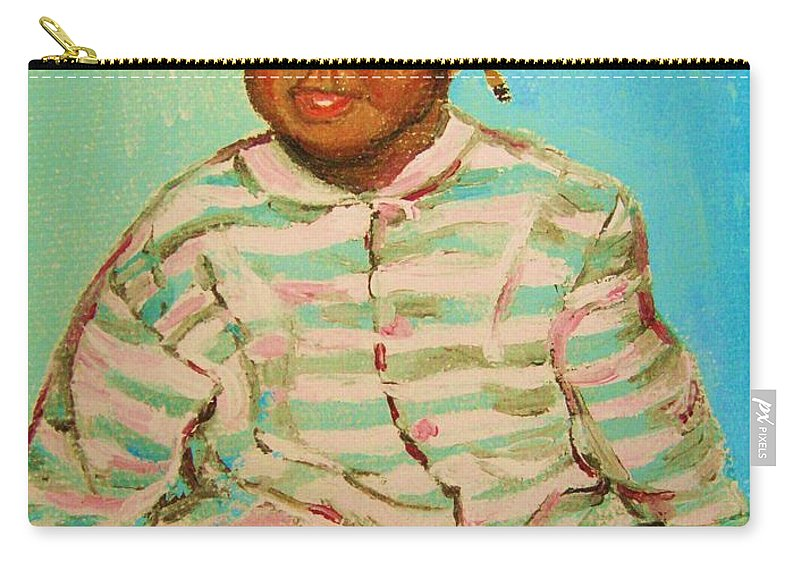 Africa Carry-all Pouch featuring the painting African Cutie by Carole Spandau